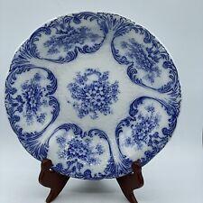 New listing Antique Meissen Flow Blue Serving Bowl Flowers Germany Franz Anton Mehlem