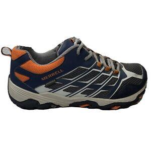 Merrell Moab Low Waterproof Hiking Shoes Boys Mens Size 7 Blue Sneakers MK60888