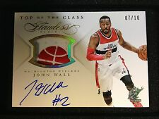 John Wall Top Of The Class Patch Auto 7/10 - 14-15 Panini Flawless