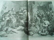 Grande Gravure 1865 - Un retour de chasse dans les montagnes de l'Ecosse