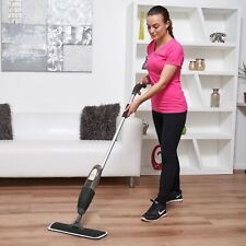 Vinsani Floor Spray MOP Water Spraying Floor Cleaner Includes 2 Microfibre Pads Black 0008709