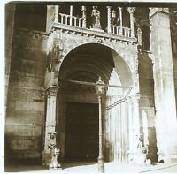 Italia Eglise Entrée c1910 Foto Stereo Placca Da Lente VR12he3