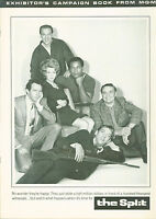 The Split (1968)  Jim Brown, Diahann Carroll, Ernest Borgnine  Pressbook