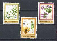 27017) Albania 1991 MNH Flowers 3v