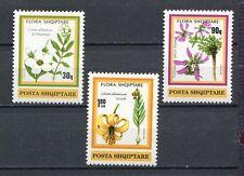 27017) ALBANIA 1991 MNH** Flowers 3v