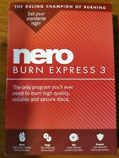 Brand *New Nero Burn Express 3 Burning Technology Software Copy & CD DVD Bluray