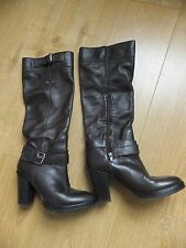 Miss Sixty stunning brown soft leather knee high boots size 4 eu 37