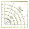 Multifunctional Acrylic Arcs & Fans Quilt Paper Fabric Circle Cutter Ruler DIY