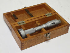 Mitutoyo Holtest Three Point Bore Micrometer Gauge 16 18 00002 Grad Box