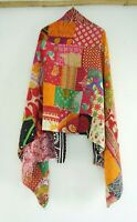 Cotton Kantha Scarf Head Wrap Stole Dupatta Hand Quilted beauty headband  SQ21