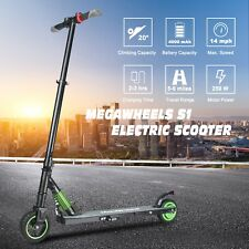Megawheels Folding Aluminum E-scooter 250W 23Km/h Green Electric City Scooter