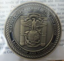 Vivid Marine Corps San Diego Recruit Depot Challenge Coin - Limited Design