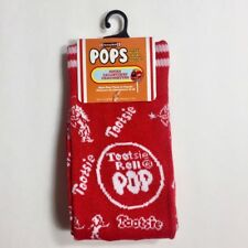Tootsie Roll Pops Men's Logo Socks Size 6-12 Red & White Fun & Fashionable - NWT