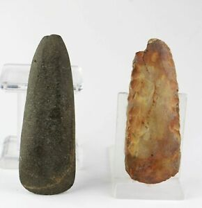 *SC*A CHOICE PAIR OF DANISH NEOLITHIC AXES, 4th-3rd mill BC