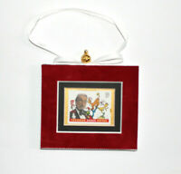 Dr. Seuss Hand Crafted Velvet Framed USA Stamp Hanging Christmas Tree Ornament