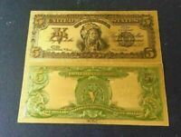 AMAZING☆《1899 SILVER CERTIFICATE》 INDIAN CHIEF  $5 Rep.*Banknote x
