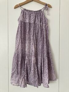 ZIMMERMANN Girls Purple Cotton Summer Dress Size 8