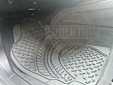 TO FIT MITSUBISHI L200 HEAVY DUTY BLACK RUBBER CAR MAT SET NON SLIP SET OF 4