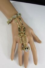 New Women Skeleton Bracelet Hand Chain Fashion Jewelry Slave Ring Gold / Silver