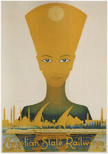EGYPTIAN STATE RAILWAYS Vintage Travel Poster Rolled CANVAS PRINT 24x32 in.