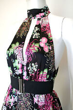 Australian Native Floral Design Silky Satin Bubble Dress Brand New!