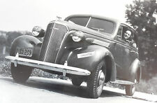 """12 By 18"""" Black & White Picture 1937 Chevrolet 2 door front view"""