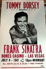 "Frank Sinatra Concert Poster - 1947 w/ Tommy Dorsey - Las Vegas 14""x22"""