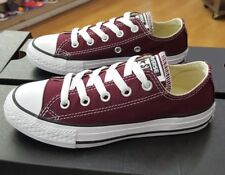 CONVERSE ALL STAR CHUCK LOW 339794F BURGUNDY PRESCHOOL SZ 12