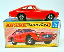 MATCHBOX SUPERFAST nº 75 A Ferrari Berlinetta rouge fines roues parfaitement en box