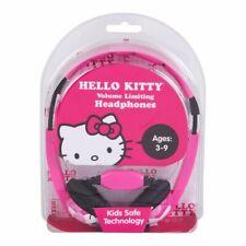 hello kitty volume limiting headphones Hello Kitty Kid Safe Headphones Pink US