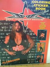WCW 1999 SLAMBOREE WRESTLING STICKER ALBUM COLORING BOOK New