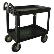 Zoro Select 52tv57 Polypropylene Utility Cart With Deep Lipped Amp Flush Plastic