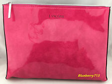 Lot of 2:Lancome Cosmetic Faux Patent Makeup Bag Clutch Pouch - Waterproof- Pink