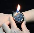Men's Military Lighter Butane Gas Cigarette Cigar Lighter Refillable Wrist Watch
