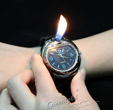 Men's Military Lighter Butane Gas Cigarette Cigar Lighter Refillable Wrist Watch