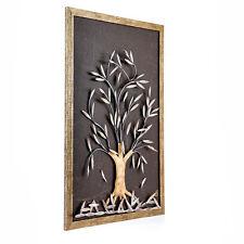 Olive Tree 3D Handmade Wood & Metal Wall Art Framed Decor
