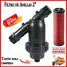 "Filtro de anillas 63mm para sistemas riego Irritec 2"" Filtro goteo filter 63 mm"