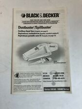 Black And Decker Dustbuster/ Spillbuster DB450 Manual