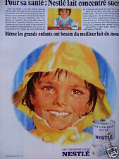 PUBLICITÉ 1968 NESTLÉ LAIT CONCENTRÉ SUCRÉ POT OU TUBE - ADVERTISING