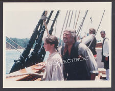 8x10 Photo~ TREASURE ISLAND ~1990 ~Christian Bale ~Charlton Heston ~On ship