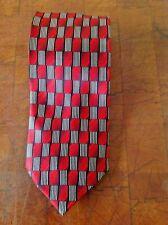 """Gior Gio Brutini Collezione Men's Tie 100% Silk Red Black White 58 1/2"""" L 3 3/4"""""""