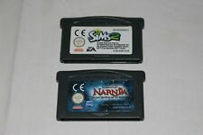 NINTENDO lot de 2 jeux NARNIA + SIMS 2 pour GAME BOY ADVANCE GAMEBOY fonctionne