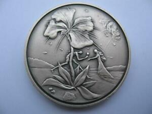 REUBEN FROM THE 12 TRIBES OF ISRAEL SALVADOR DALI PURE SILVER 3-OZ. COIN+GOLD
