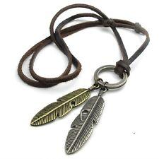 New Delicate Retro Necklace Collar Statement Leaf Leather Men Pendants Chain