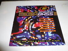 MEGABASS - Face the Bass & Burn the floor - 1991 UK 3-track Vinyl LP