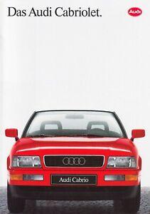 AUDI 80 CABRIO Cabriolet 2.3 Youngtimer Prospekt Brochure 1991 45