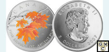 2007 Colorized Silver Maple Leaf 1oz .9999Fine(Sugar Maple in Orange)(12175)OOAK