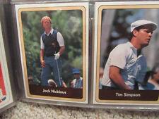 1986 Donruss Miller Press Golf Set w/ Jack Nicklaus Masters