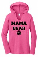 Mama Bear Ladies Hoodie Tri-Blend Tee Shirt Cute Mothers Day Mom Mommy Gift