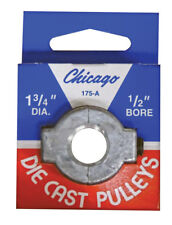 CHICAGO DIE CASTING Single V Grooved Pulley A 1-3/4 in. x 1/2 in. Bore 175A5